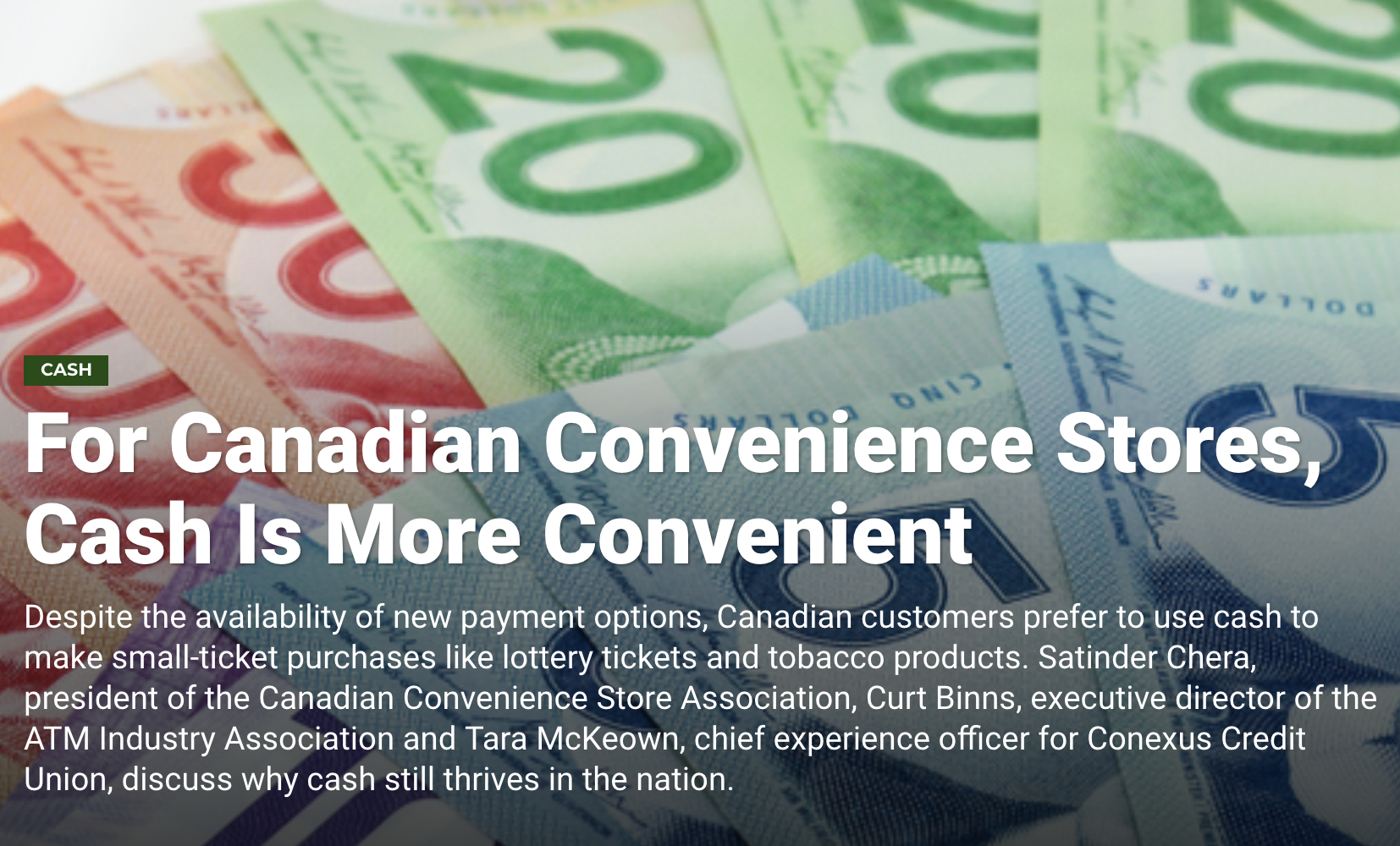 Cash is king in Canadian Convenience Stores