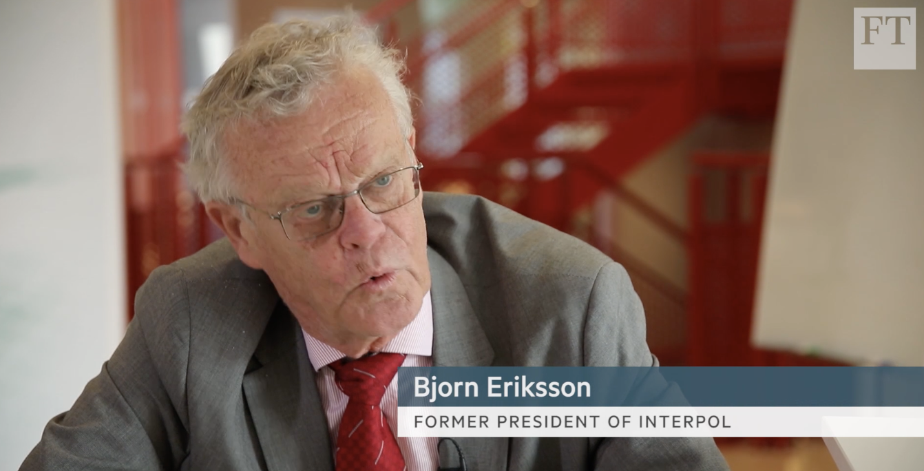 The former President of Interpol discusses the risks of going cashless