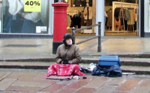 Homeless in Norwich.  Evelyn Simak, Creative Commons.