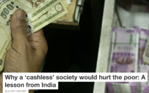 The cashless society hurts the poor: experience feedback from India